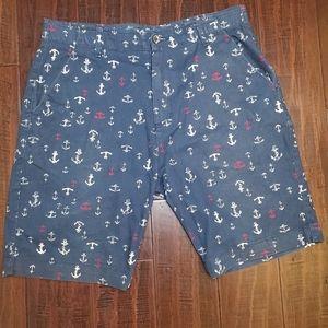 Plugg Flex Casual Flat Front Shorts sz 32